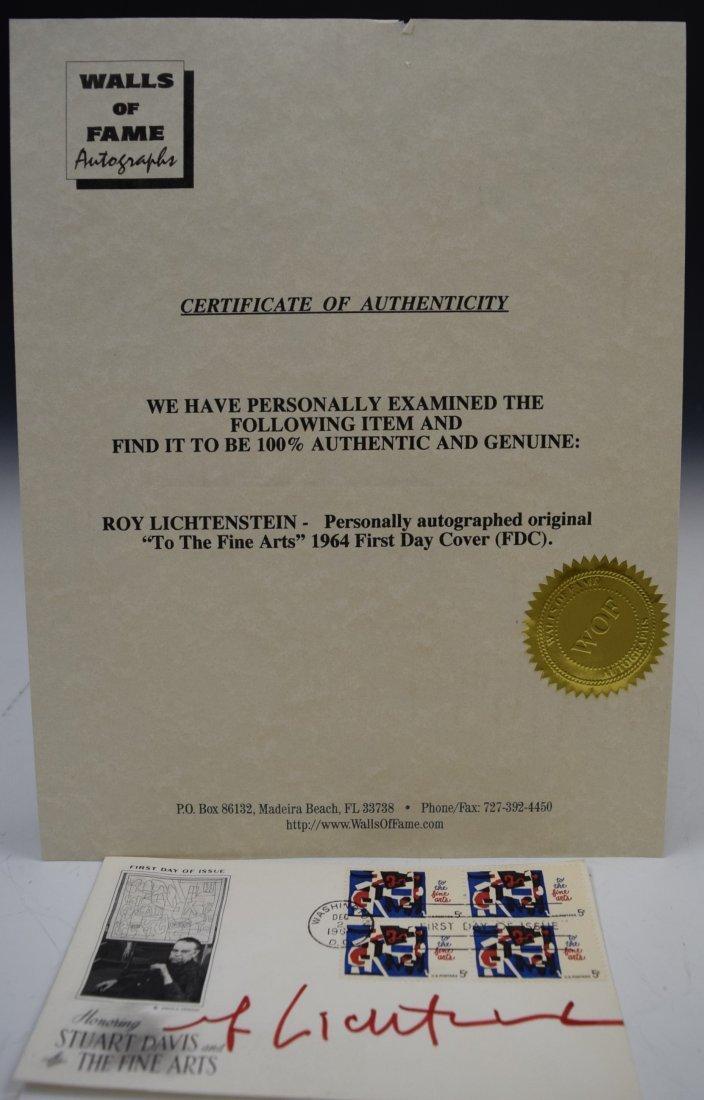 Roy Lichtenstein Signed - 2