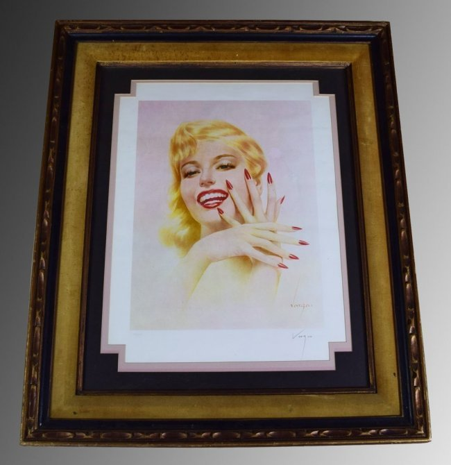 Alberto Vargas Signed Lithograph