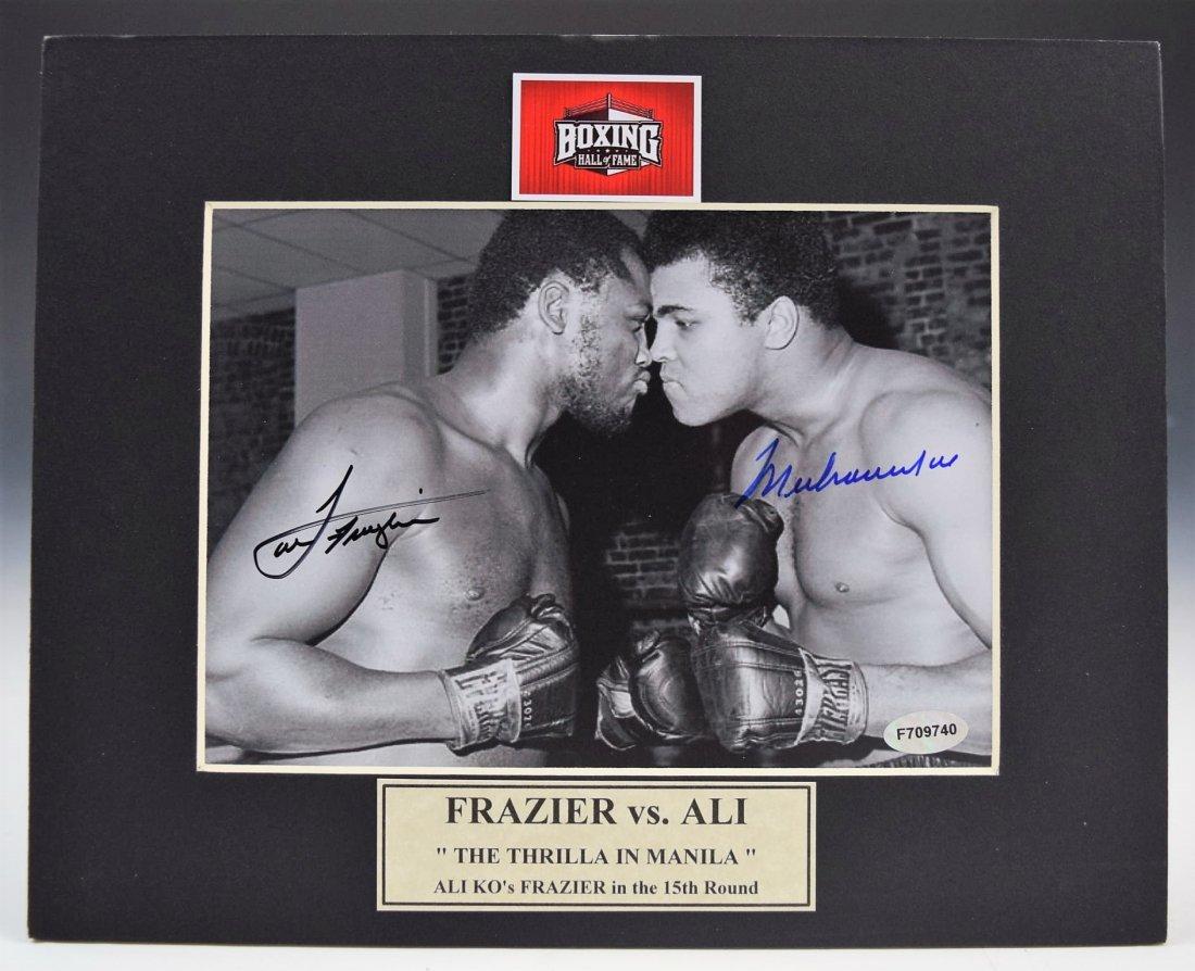 Muhammad Ali Joe Frazier Signed Photo