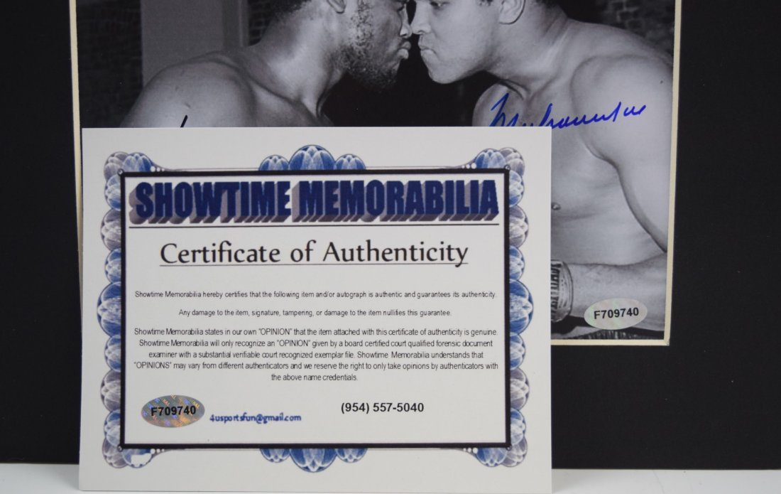 Muhammad Ali Joe Frazier Signed Photo - 3