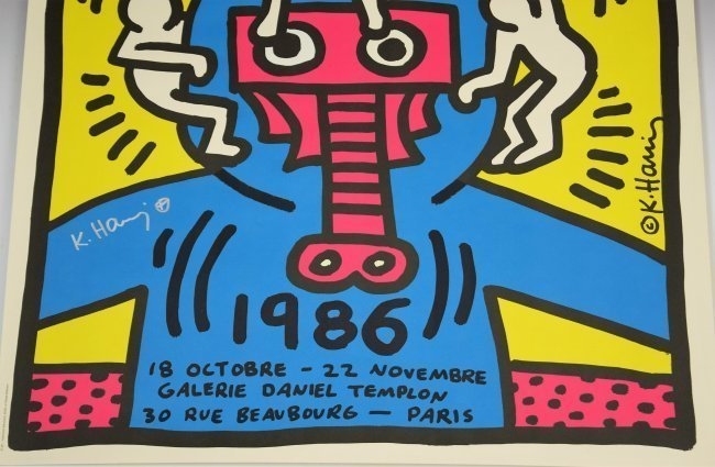 Keith Haring Signed Poster - 3