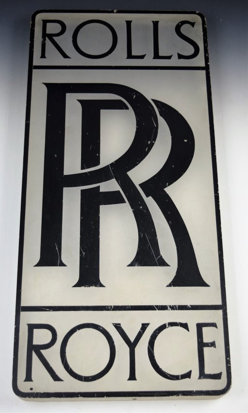 Rolls Royce Vintage Dealer Sign