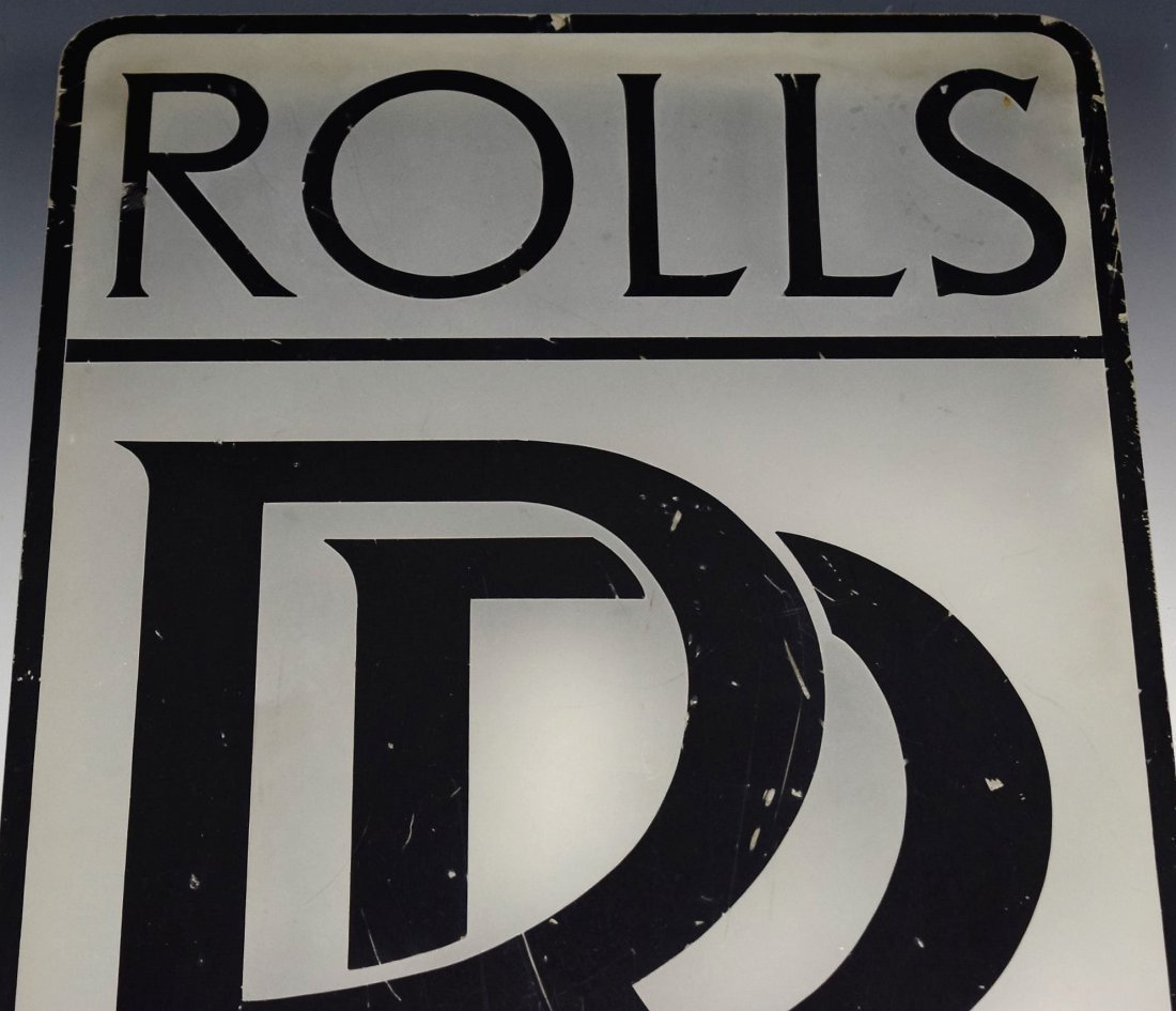 Rolls Royce Vintage Dealer Sign - 2