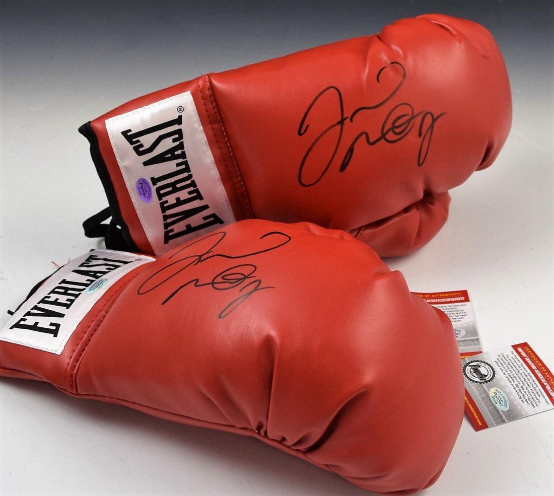 2 Floyd Mayweather Signed Boxing Gloves