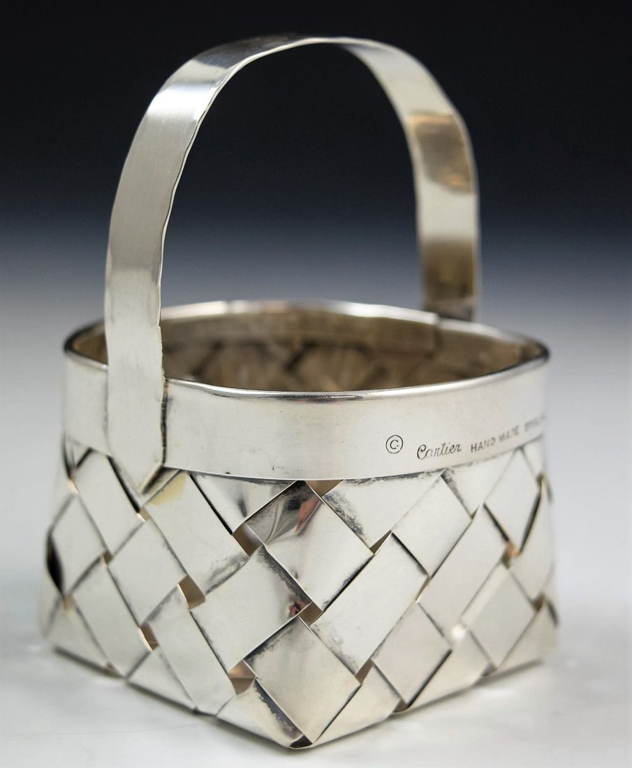 Cartier Sterling Silver Basket