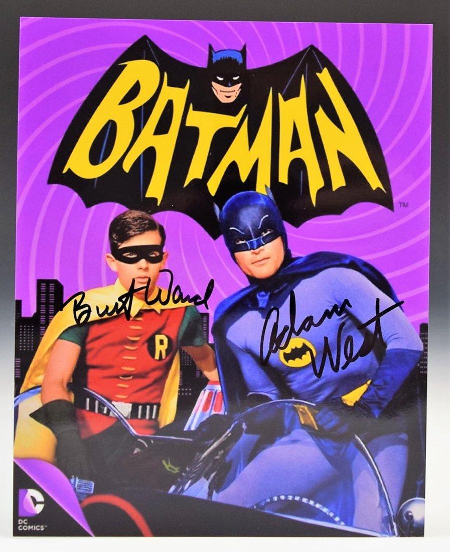Adam West, Burt Ward Signed Batman Photograph
