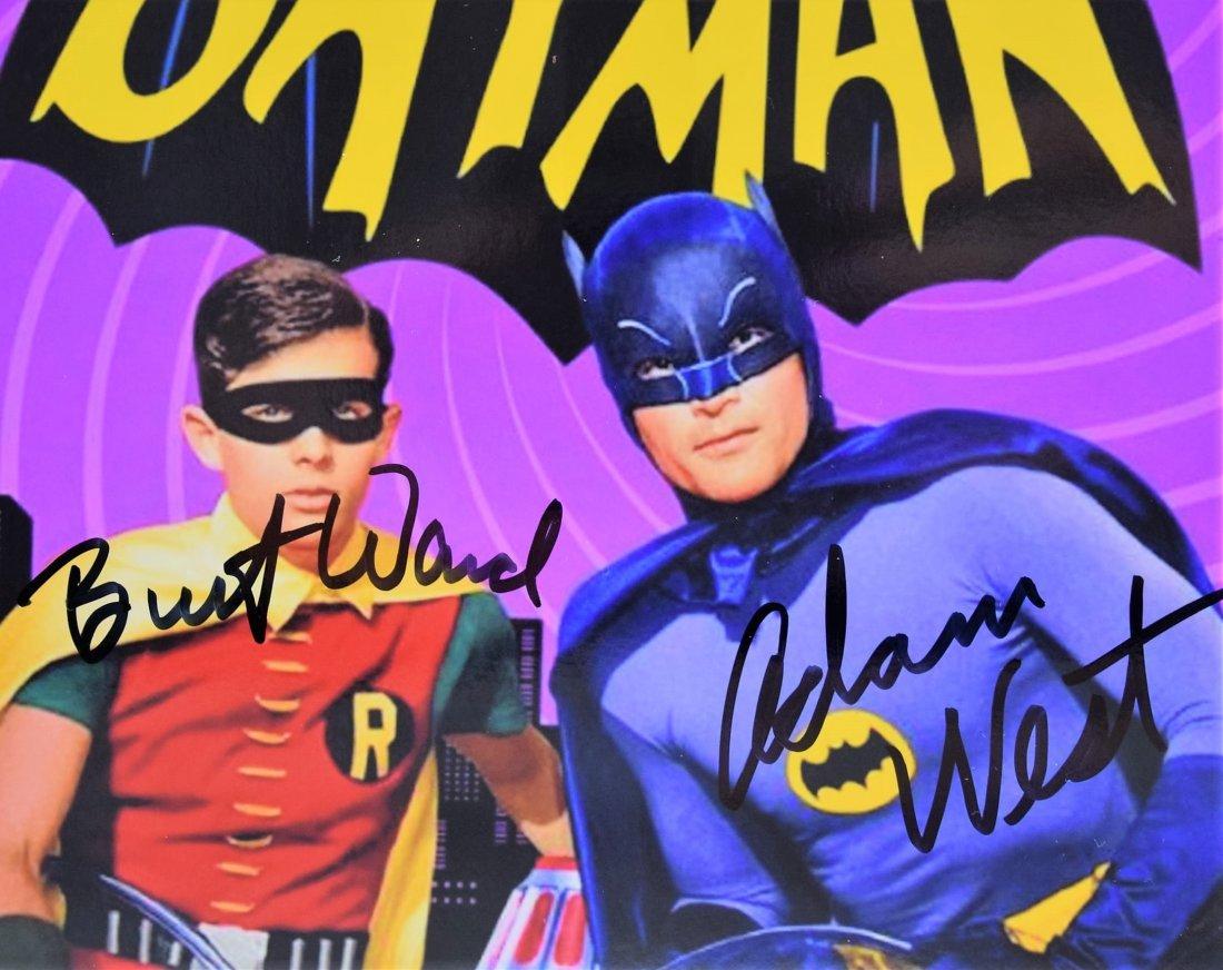 Adam West, Burt Ward Signed Batman Photograph - 2
