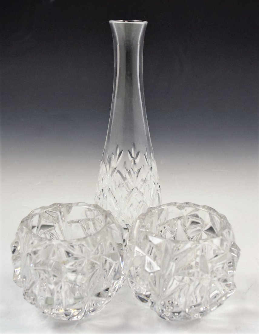 Tiffany & Co Crystal Candlesticks/Vase
