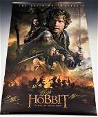 The Hobbit Cast Signed Movie Poster