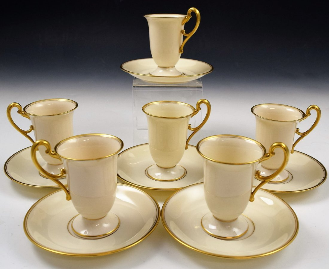 Tiffany & Co Lenox Cups and Saucers Set