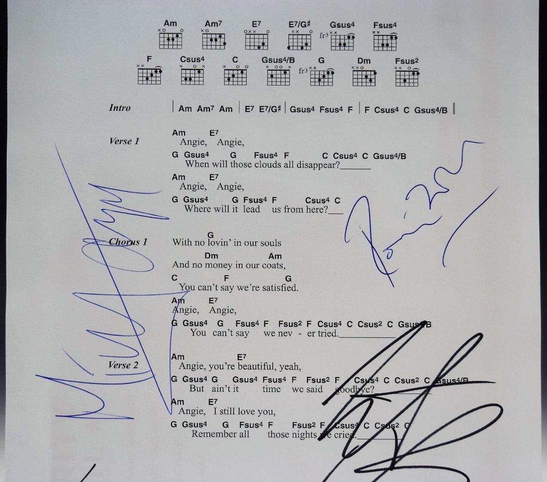 Rolling Stones Autograph Music Sheet - 2