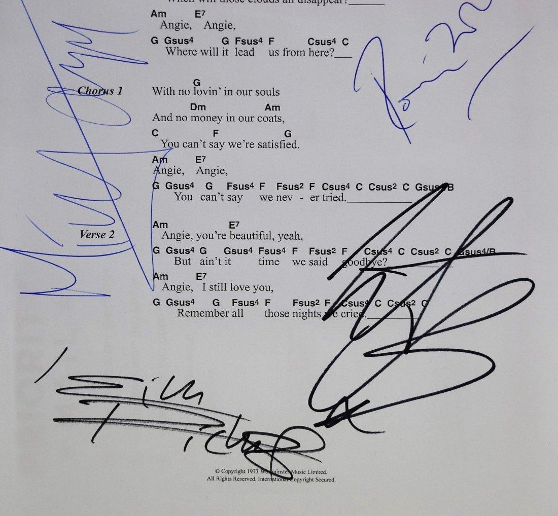 Rolling Stones Autograph Music Sheet - 3