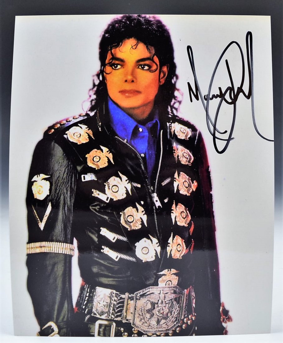 Michael Jackson Signed Photo