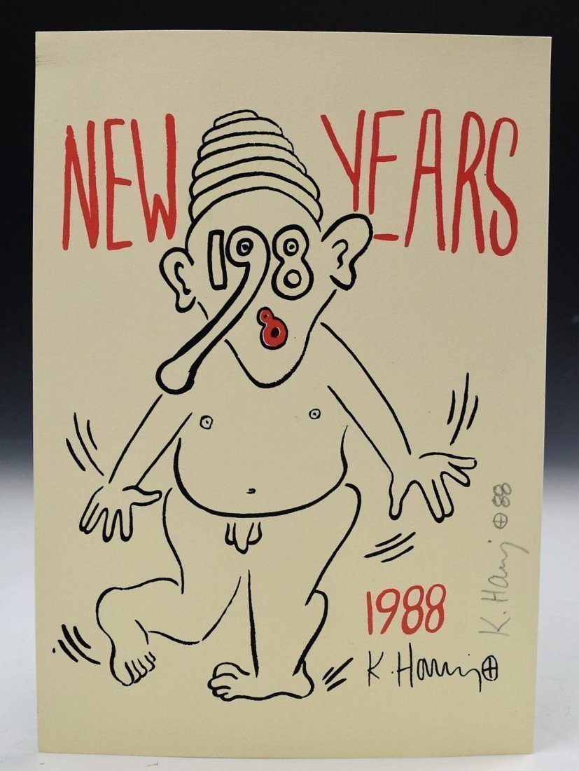 Keith Haring Signed, New Years