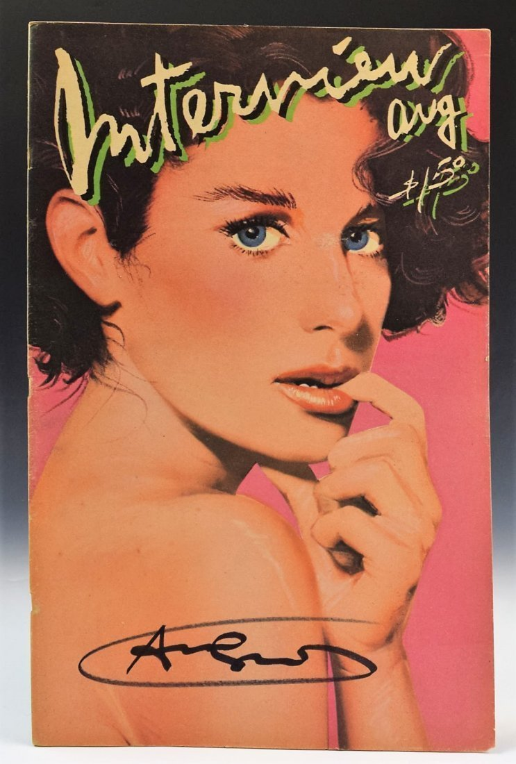 Andy Warhol Signed Interview Magazine