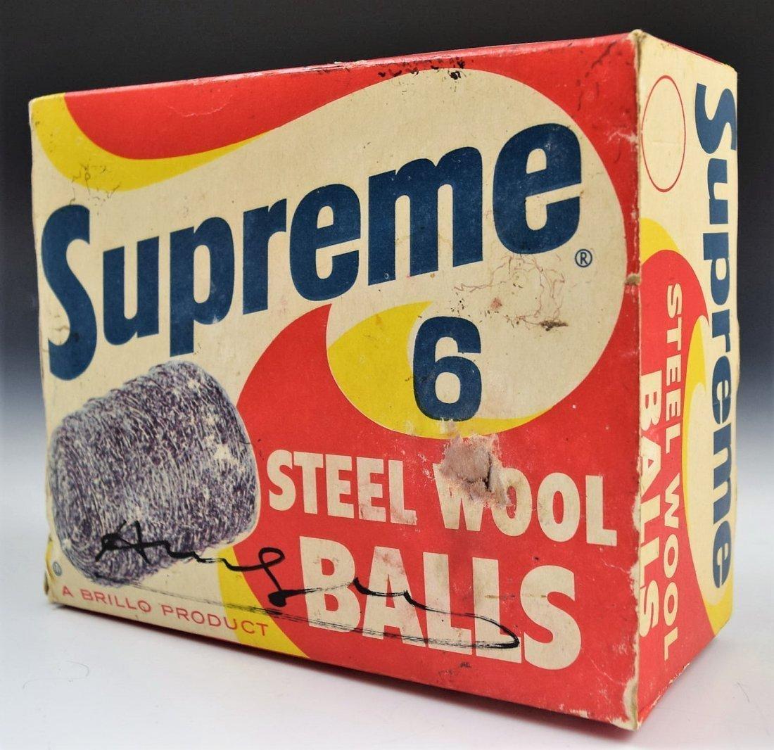 Andy Warhol Signed Supreme Box