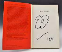 Jeff Koons Signed Book with Drawing