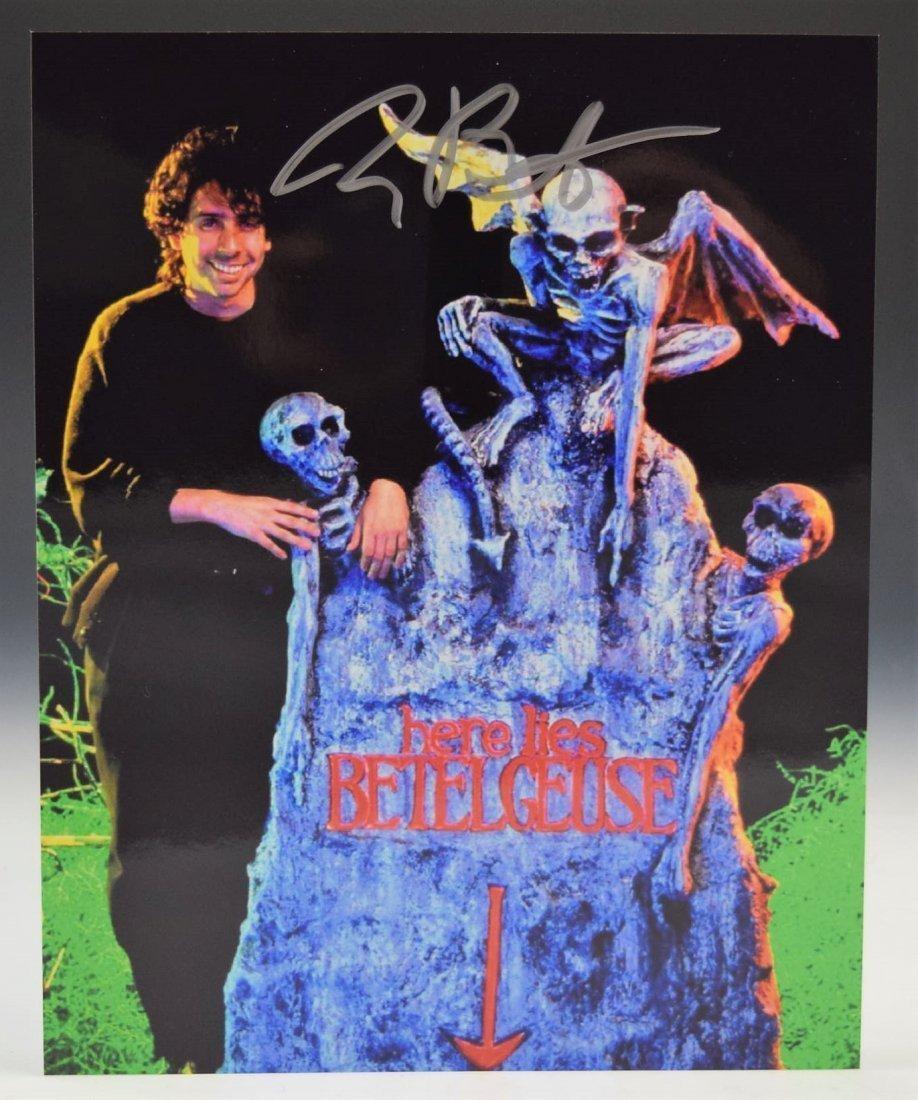 Tim Burton Autograph Photo