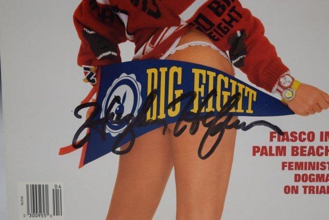 Hugh Hefner Signed Playboy Magazine - 2
