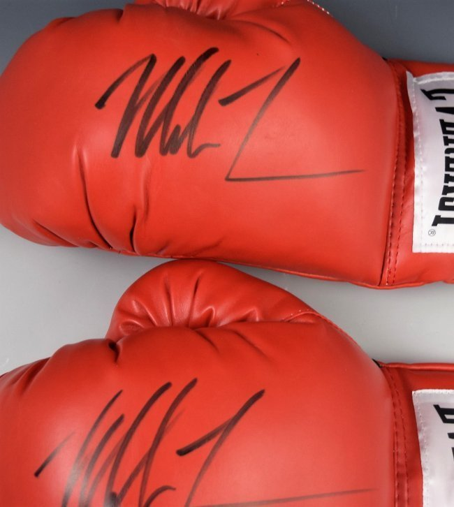 2 Mike Tyson Gloves Autographed - 2