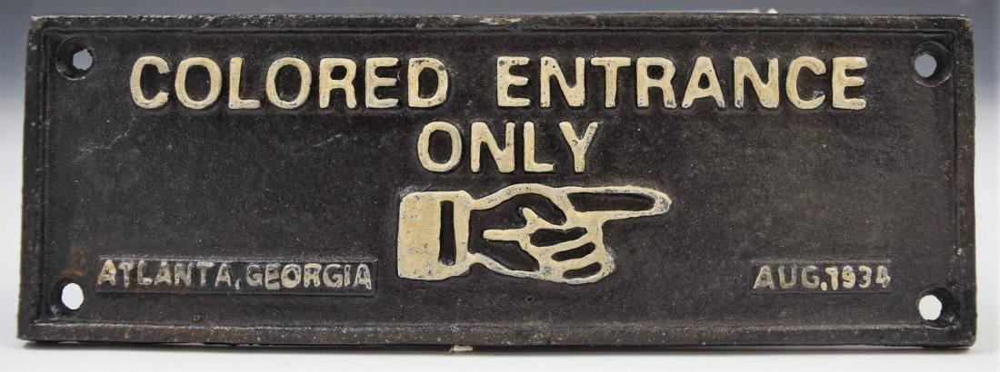 Cast Iron Segregation Sign