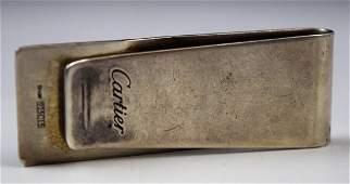 Cartier Silver Money Clip