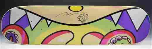 Takashi Murakami Drawing on Skateboard