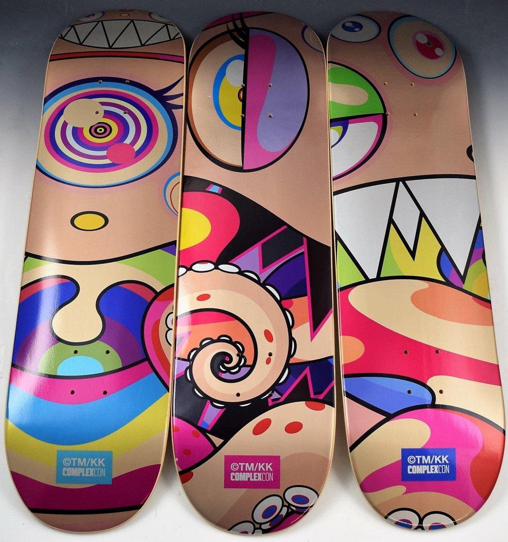 Takashi Murakami Skateboard Deck Set Of 3