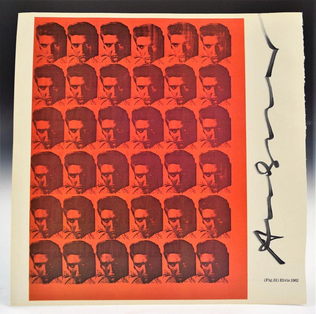 Andy Warhol Signed Elvis Print