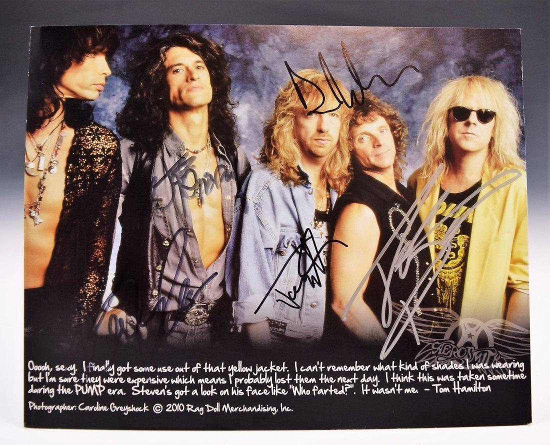 Areosmith Signed Photo