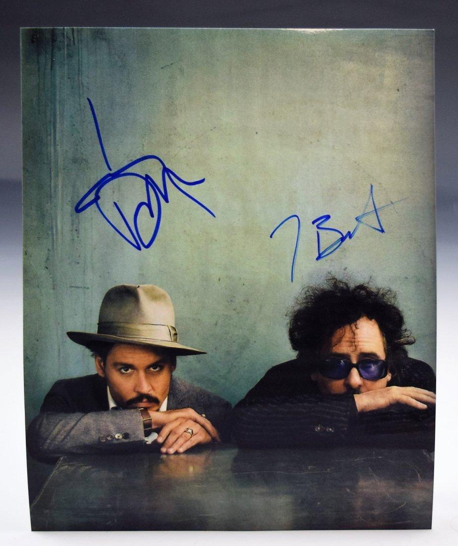 Tim Burton Johnny Depp Signed Photo