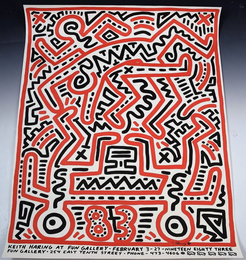 Keith Haring Signed Poster