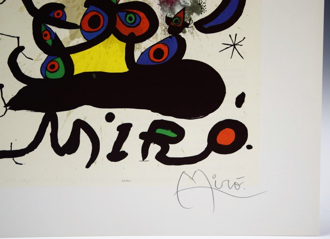 Joan Miro Signed Lithograph - 2