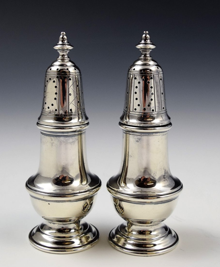 Cartier Sterling Silver Salt Shakers