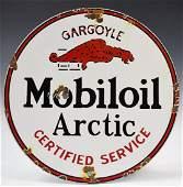 Vintage Mobiloil Arctic Porcelain Sign