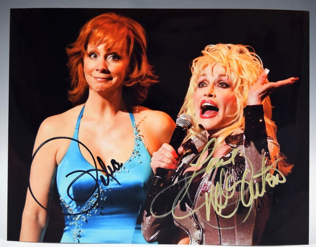 Reba McEntire and Dolly Parton Signed Photograph