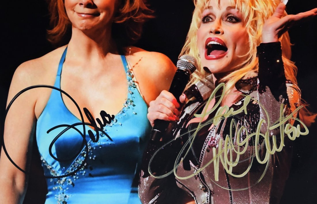 Reba McEntire and Dolly Parton Signed Photograph - 2
