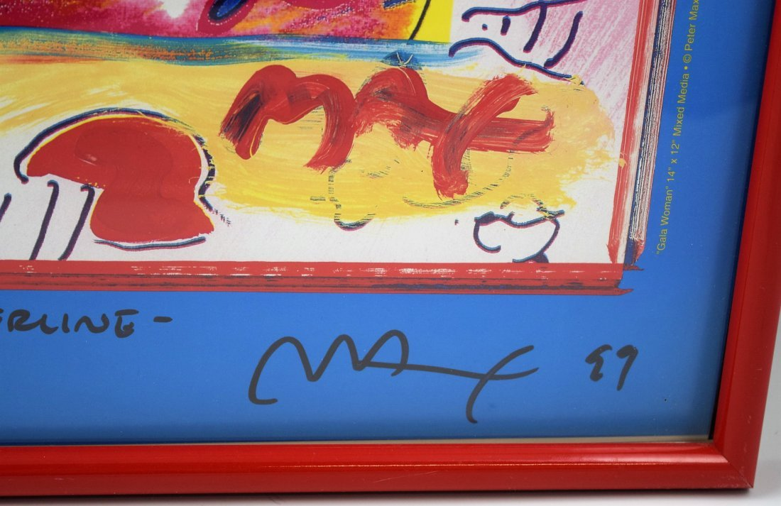 Peter Max Signed Poster with Drawing - 5