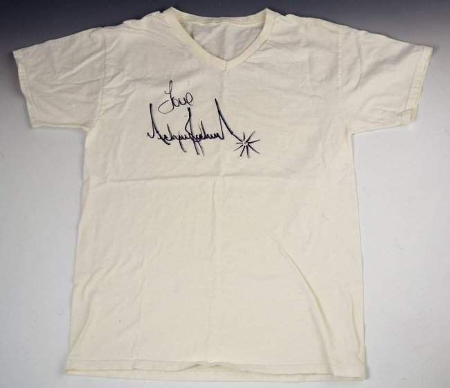 Michael Jackson Signed Shirt