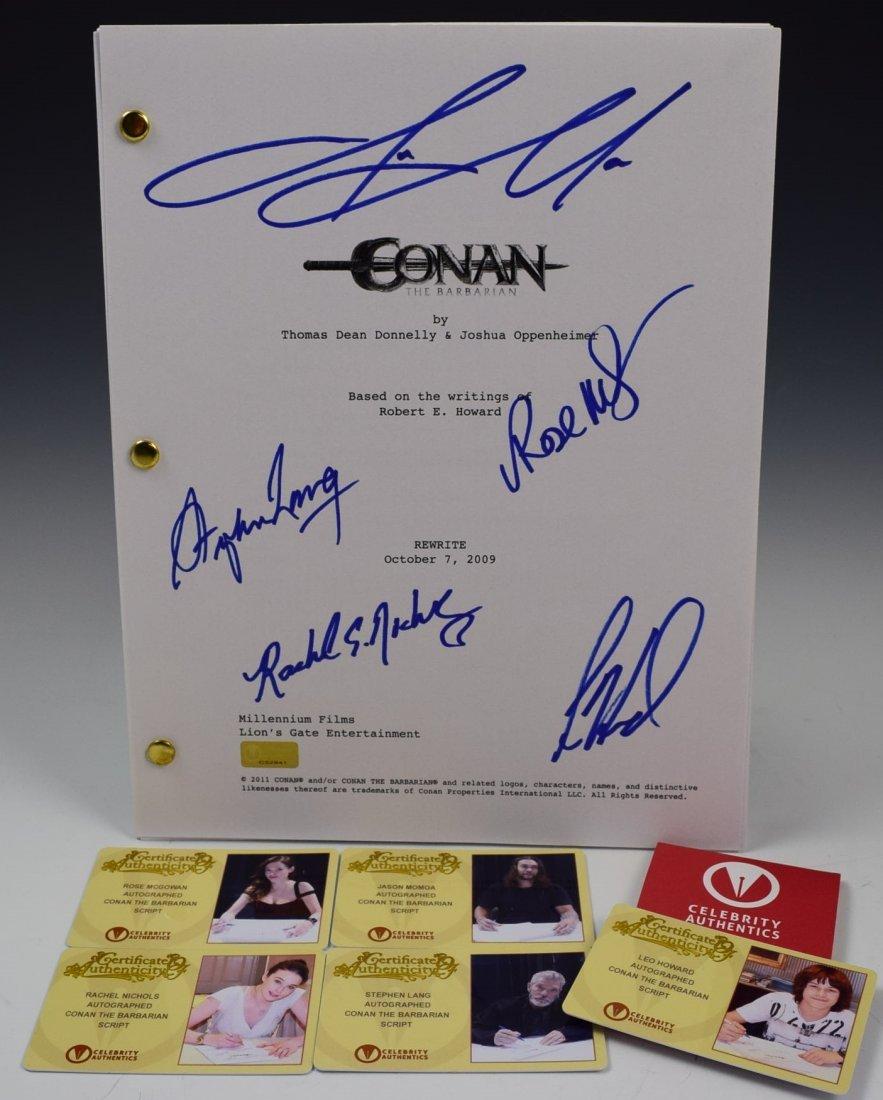 Conan Cast Signed Script