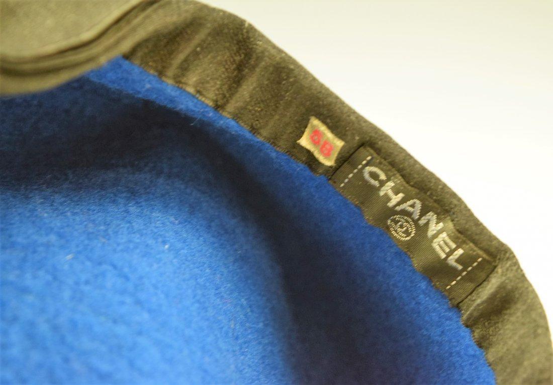 Chanel Vintage Blue Beret - 2