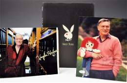 Hugh Hefner Signed Book and Photograph's