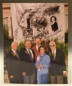 Buzz Aldrin Shirley Temple Signed Photograph