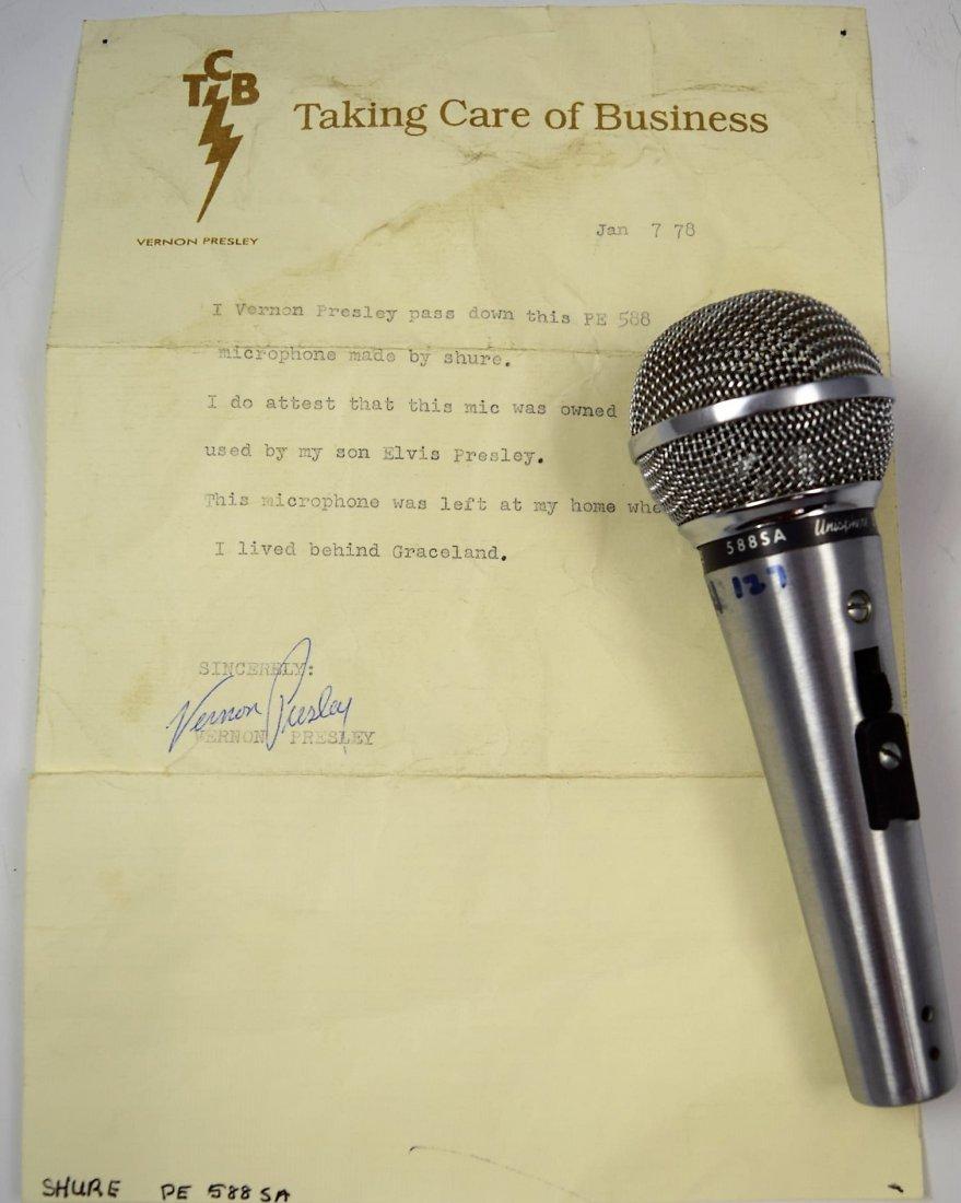Elvis Presley's Personal Microphone - 3