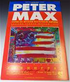 Peter Max Signed Poster