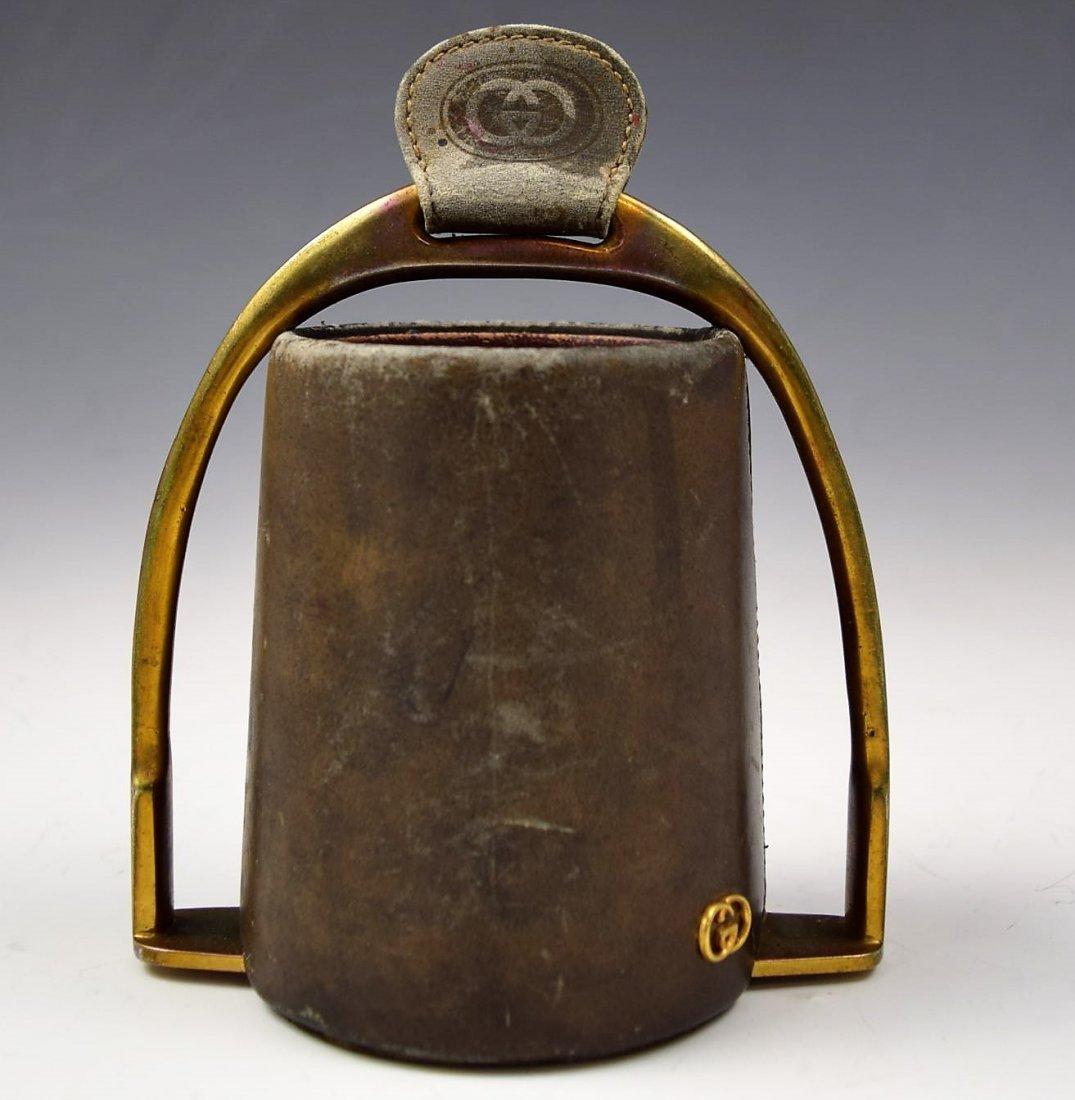 Vintage Gucci Leather Desk Cup