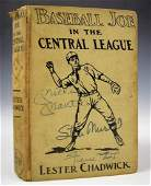 Mickey Mantle, Mays, and Stan Musial Signed Book