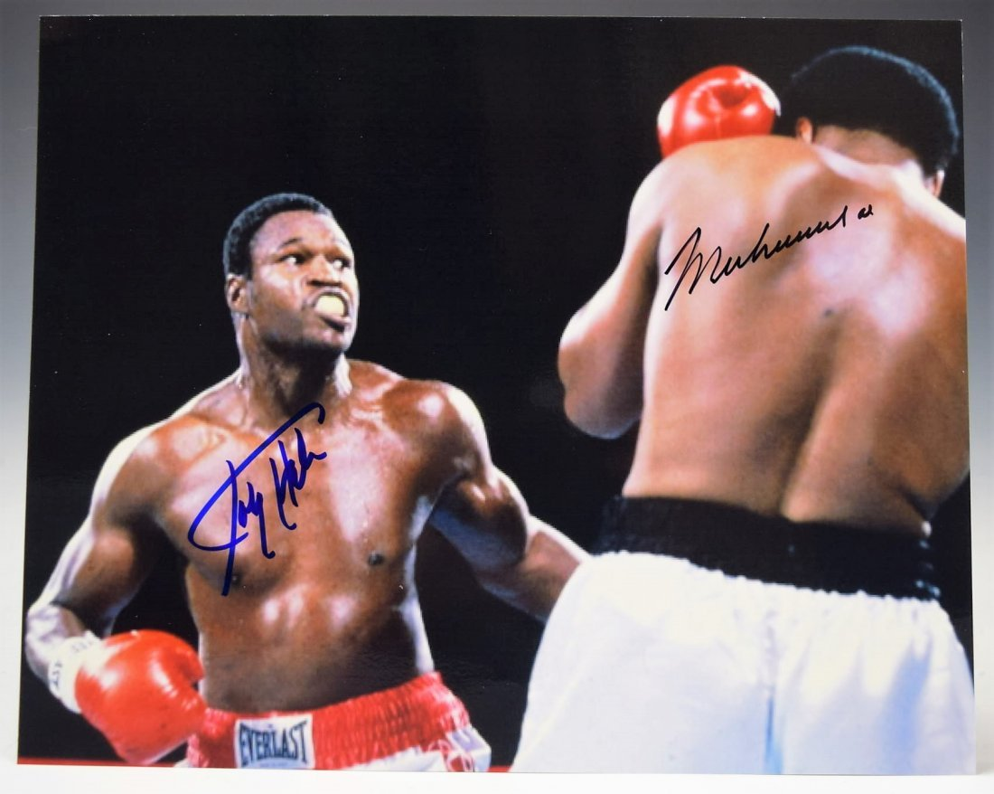 Muhammad Ali and Larry Holmes Signed Photograph