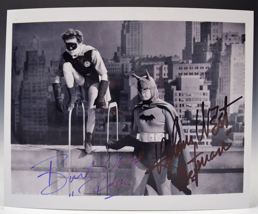 Adam West, Burt Ward Signed Batman Photograph