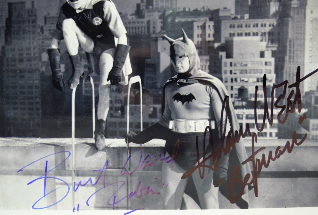 Adam West, Burt Ward Signed Batman Photograph - 2